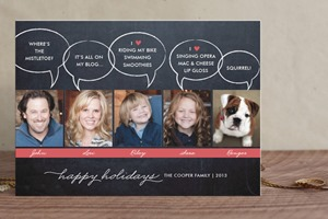 Minted Christmas Card Chalkboard Quotes