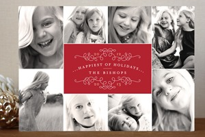 Minted Christmas Card Elegant Classic Collage