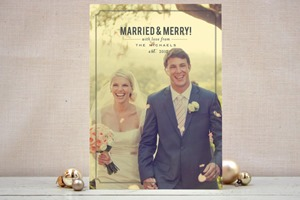 Minted Christmas Card Married and Merry
