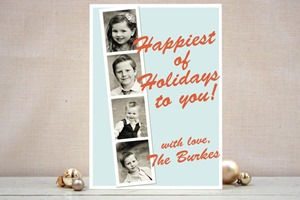 Minted Christmas Card Vintage Photo Booth