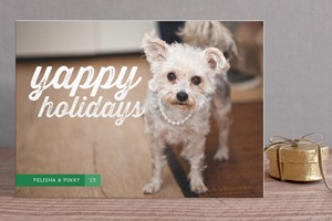 Minted Christmas Card Yappy Holidays